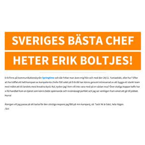 Sveriges bästa chef - Siri Andersson