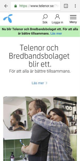 Telenor.se - nya startsidan 15/5